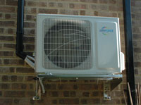 Air Conditioining Unit mounted on the bracket